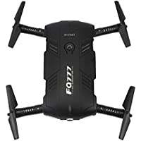 [Quadcopter],FQ777 FQ05 6-Axis Gyro 2.0MP Wifi Fpv Drone Camera Selfie Foldable (Black)