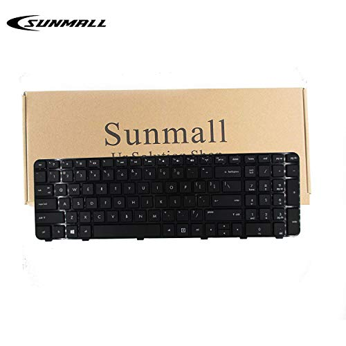 (SUNMALL Keyboard Replacement with Frame Compatible with HP Pavilion DV6-6000 DV6-6100 DV6-6B00 DV6-6C00 DV6T-6000 DV6T-6100 DV6T-6200 DV6-6108US DV6-6114US DV6-6B26US DV6-6C10US Series Laptop US Layou )