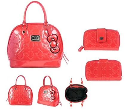 Amazon.com   Hello Kitty Embossed Patent Wallet and Hand Bag Set - Poppy Red  Color SANWA0569   SANTB0966   Other Products   Everything Else 47c49a68bf576