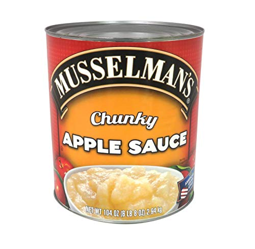 Musselman's Chunky Applesauce-Cane Sweetened, 104 oz., (Case of 3)