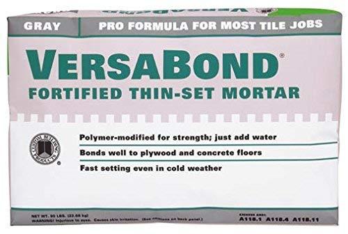 Versa Bond MTSG50GRY 50 Lb Gray VersaBond Fortified Thin-Set Mortar