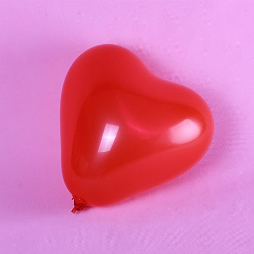 Dailyshops 12'' Heart Shape Latex Balloons for Wedding Party Decor 100pcs/pack(Red) ()