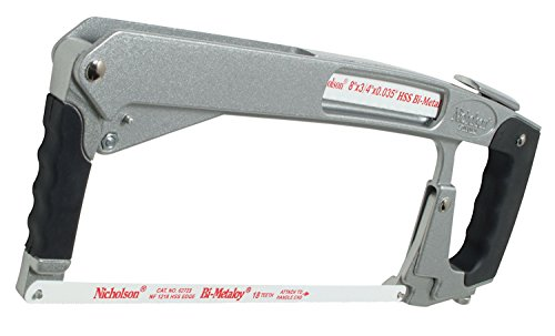 Nicholson 80975 - Hand Hacksaw, Frame Style: Flush Cut, High Tension, Blade Length: 12