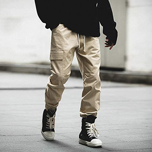 男性の のファッション純粋な色のオーバーオールレジャー大ヤードズボンパンツ