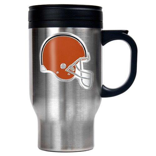 (Cleveland Browns 16 oz. Stainless Steel Thermal Mug W/ Emblem)
