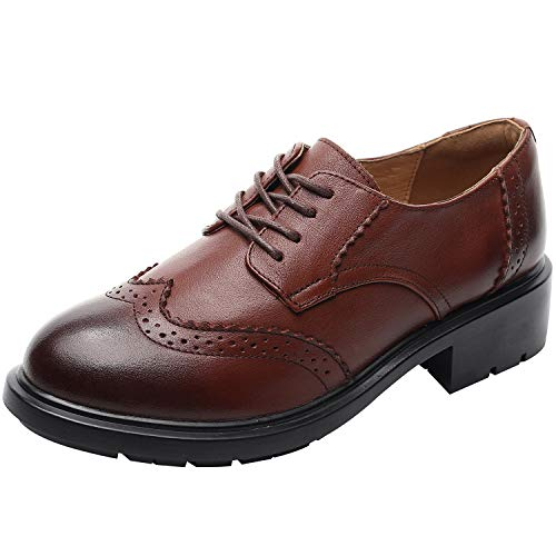 rismart Women's Formal Dress Wingtip Lace Up Oxfords for sale  Delivered anywhere in Canada