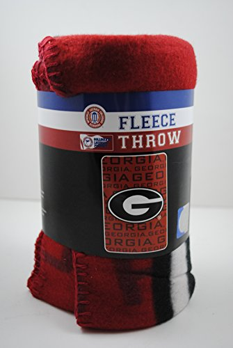 NCAA 062528 Georgia Bulldogs Fleece Throw Blanket - 40