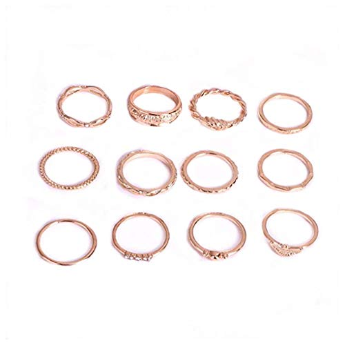 Ring Set,Joint Knuckle Finger Rings for Women Girls Christmas Anniversary Day Thanksgiving Day and Birthday Gifts ()