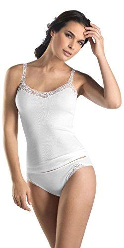 HANRO Women's Delicate Tank Top, White Small