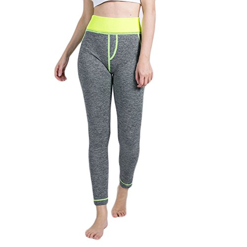 ▶HebeTop◄ Yoga Pants High Waist Leggings Tummy Control Workout Pants for Women Yellow ()