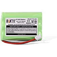 BAKTH 900mAh 3.6V Ni-MH Replacement Battery for Motorola MBP33 MBP36 MBP33S MBP-33S MBP33BU MBP33P MBP35 MBP36PU MBP41 MBP43 MBP18 CB94-01A Baby Monitor