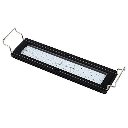 NICREW LED Aquarium Light for 12-18 inches Planted Fish Tank, White and Tri-Colored RGB LEDs, 13W