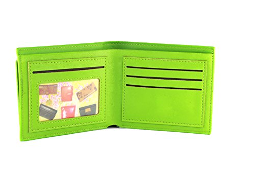 Green Wallet Unisex Novelty Credit Leather and Removable Card Artmi Capacity Waterproof Extra Holder Id Window with 7q1ZwXYd