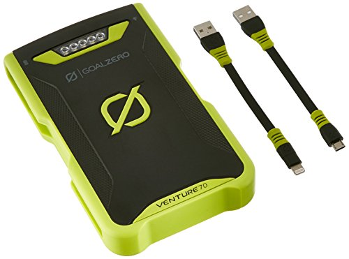 Goal Zero Venture 70 Recharger, Lightning to USB & Micro to USB Cables