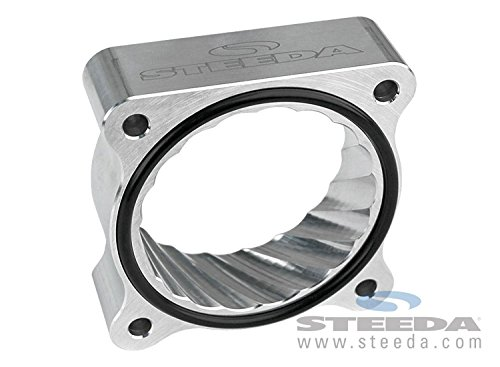 Steeda 555-3195 Throttle Body Spacer (2015 Mustang Eco (Mustang Intake Spacer)