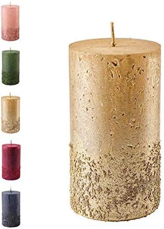 Ausw Kerzen Rustik durchgefärbte Kerzen Silbergrau 9 Größen Adventskranzkerzen