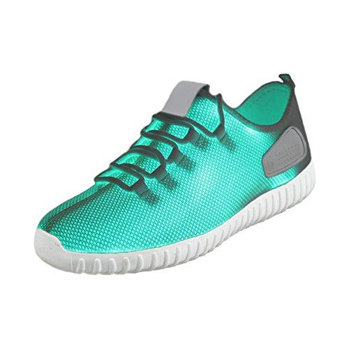 Mu Yangren Mens Fibra Ottica Led Light Up Scarpe 11 Colori Usb Ricarica Sneakers Lampeggianti