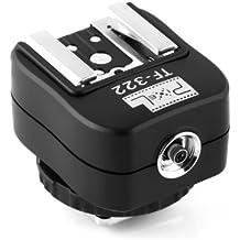 Pixel TF-322 Flash Hot Shoe Sync Adapter with Extra PC Sync Port Dedicated for Nikon DSLR & Flashgun