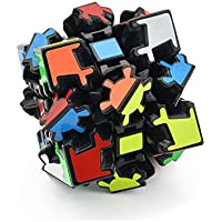 Cubelelo LeFun 3x3 Gear Full Sticker Black Cube Speed Cube Magic Cube Puzzle Toy