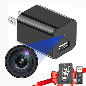 Flashandfocus.com 41Nkluq4qoS._SS300_ Built-in 32G Micro SD Card Buloge Mini Spy Hidden Cameras,Full HD 1080P Video,Micro Nanny Cam,Tiny Secret Surveillance…