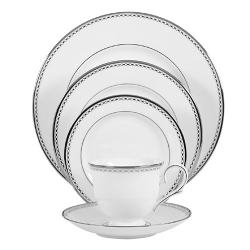 - Lenox Pearl Platinum Bone China 5-Piece Place Setting, Service for 1