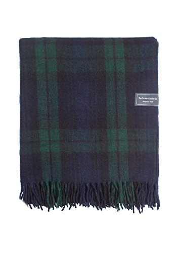 Tartan Blankets Wool (The Tartan Blanket Co.. Recycled Wool Blanket Black Watch Tartan (68
