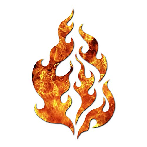 Fire Flames Art - Vinyl Decal Sticker - 3.75