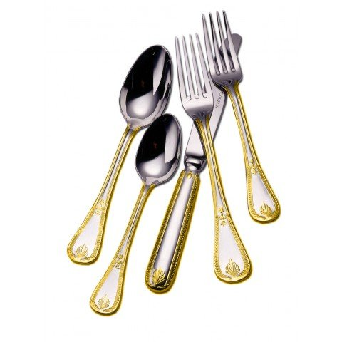 Couzon Consul Gold accent 5 piece place setting (stainless) ()