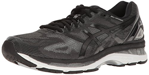 ASICS Men's Gel-Nimbus 19 Running Shoe, Black/Onyx/Silver, 10 M US by ASICS