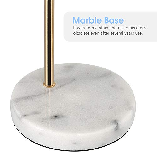 Desk Lamp, Gold Table Lamp Industrial Nightstand Lamp, Edison Lamp with White Marble Base for Bedside, Living Room, Bedroom, Office,Dresser, Collage Dorm Room
