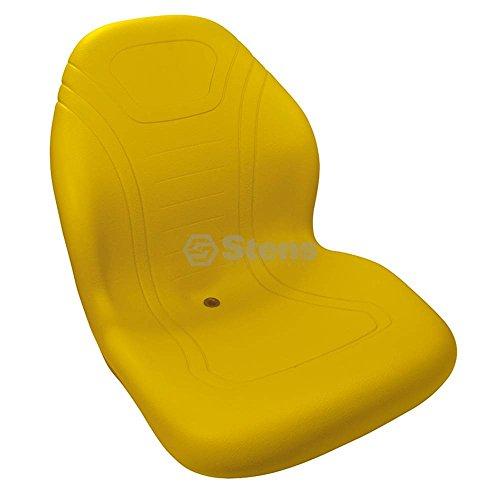 Stens 420-200 High Back Seat, Used with John Deere Mowers, waterproof vinyl, central drain, replaces John Deere: AM122434, AM138194, TCA13830, 21