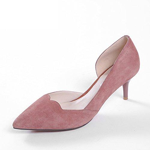 Zapatos De Corte Bajo/Zapatos De Tacón Alto/Zapato Coreano Mate De La Placa A