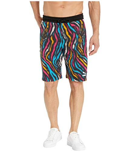 PUMA Men's Wild Pack All Over Print Shorts, White-Colour Zebra AOP, L]()