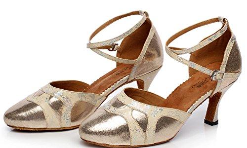 CFP - Zapatillas de danza de poliuretano para niño Dorado dorado ChNFAW