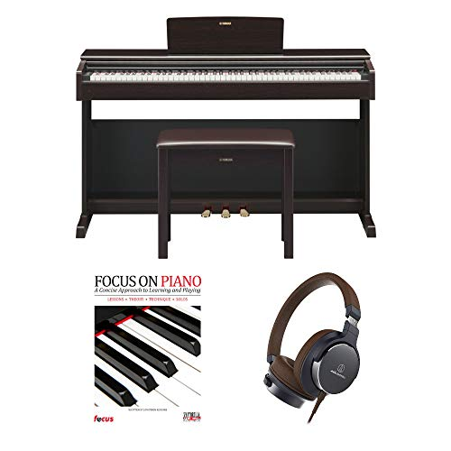 Yamaha YDP-144 Arius Traditional Console Piano with Bench (Rosewood Brown) with Headphones and Piano ()
