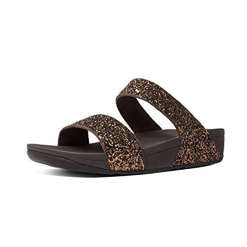 Fitflop Glitterlysbilde Womens Toning Sandaler Sko Bronse