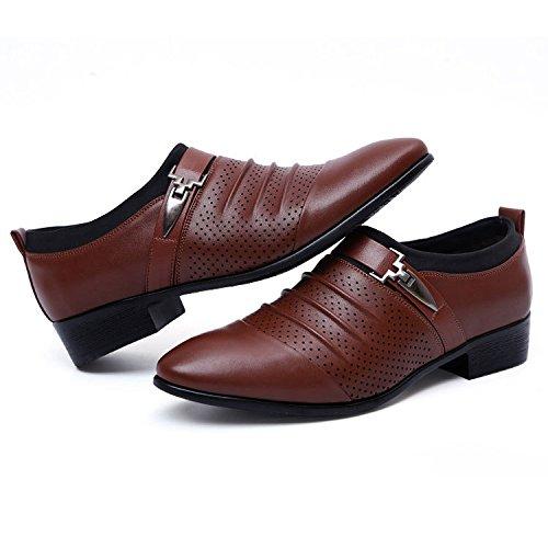 De De Los Hombres Hueco Cuero Agujero Nueva De Tendencia Sandalias Negocios Zapatos Hombres De Ocasionales YXLONG Los brownpedal9312 Respirable De Verano Hombres Acentuados Zapatos qfwZxp