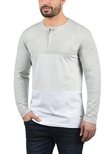 8242 Tunisienimprimé Melange Longues Motif shirt Grey Col Pour solid Marte À Avec Manches Light Homme T 6qwZcfW4