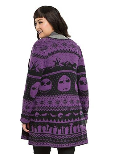 The Nightmare Before Christmas Fair Isle Girls Cardigan Plus Size