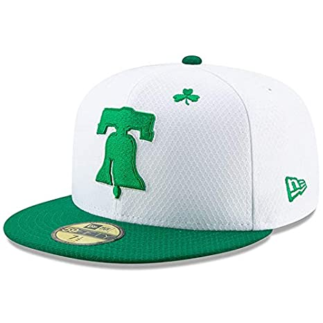 online store 6afe3 56065 New Era Philadelphia Phillies White Kelly Green 2019 St. Patrick s Day  On-Field
