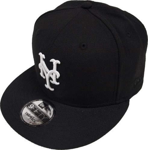 New Era New York Mets Black White Logo Snapback Cap 9fifty Limited Edition (Mets New Ny Logo)
