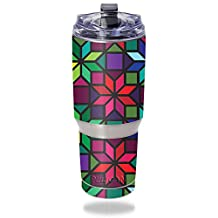 Skin For Pelican Tumbler 32 oz – Stained Glass Window | MightySkins Protective, Durable, and Unique Vinyl Decal wrap cover | Easy To Apply, Remove, and Change Styles | Made in the USA