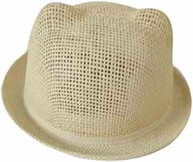 772c29da NingNing NN Children's Sun Hat - Summer Girl Beach Hat, Hand Knit Cap, Cute