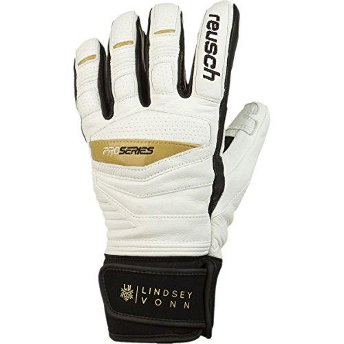 Reusch Snowsports Womens Lindsey Vonn Signature Ski Gloves  Medium  White Black