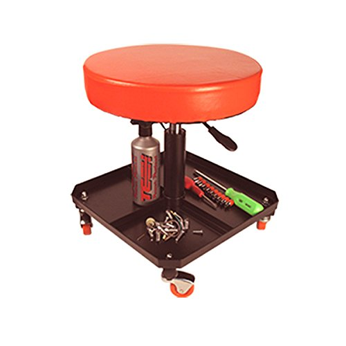 Meccanica pneumatica garage workshop Round Creeper sedile sgabello con vassoio BikeTek