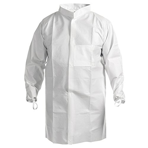 Kimtech Pure A7 Cleanroom Lab Coat (47655), High Collar, Thumb Loops, Splash Protection, Anti-Static, Double Bag, 2XL, 30 / ()