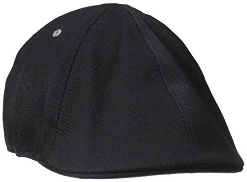 Kangol Wool 6 Panel Flexfit Flat Cap, Black, Small/Medium ()