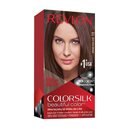 🥇 Revlon ColorSilk Tinte de Cabello Permanente Tono #27 Castaño Intenso