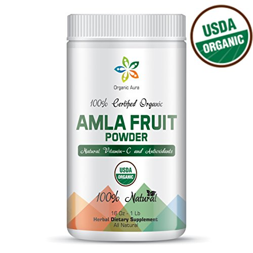 Certified Organic AMLA Powder 16Oz - 1Lb. USDA Organic. Natural Vitamin C and Antioxidants. Raw Whole Superfood. 100% All Natural, Pure and Fresh. No GMO. Gluten Free.
