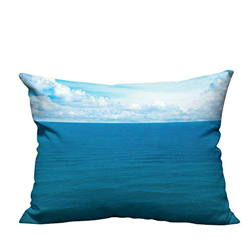 YouXianHome Home Decor Pillowcase The sea of Gentle Breeze Durable Polyester Fabric(Double-Sided Printing) 12x16 inch